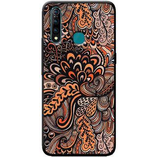 Cellmate Doodle Art Retro Pattern Designer Soft Silicone Mobile Back Case Cover For Vivo Z5X - Orange