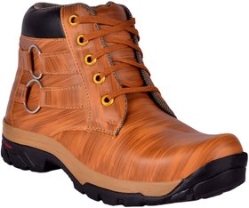 1AAROW Men's Synthetic Lace-Up Boots for Mens