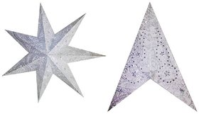 Paper Star Pack Of 5 Silver Colour