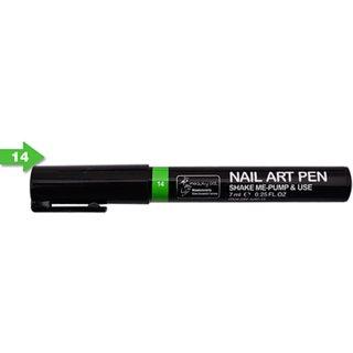 Nail Art Pen 3D, Parrot Green Color, 1 Pen