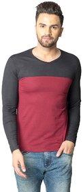 Black Studds Maroon  Black Full Sleeve T-shirt