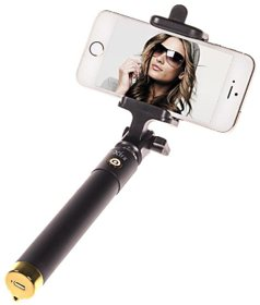 Trendster  Selfie Stick Mini With Aux Cable For iPhone, Android, Windows Phone ,Multicolor  Selfi Stick  Trendster