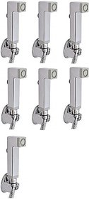 SKS - Aqua Square Health Faucet (Only Gun) Set of 7 pcs Health  Faucet (Single Handle Installation Type)