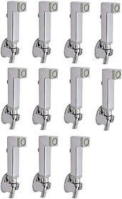 SKS - Aqua Square(Only Gun) Set of 11 pcs Health  Faucet (Single Handle Installation Type)