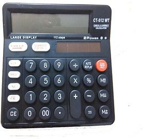 Dual Power Electronic calculator Basic CT-512-Black