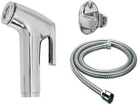 SKS - Toilet Conti Faucet Set with 1.5 Meter Flexible Chain Health Faucet Health  Faucet (Single Handle Installation Type)