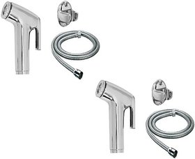 SKS - Toilet Conti Faucet Set with 1.5 Meter Flexible Chain Health Faucet Set of 2 Health  Faucet (Single Handle Installation Type)