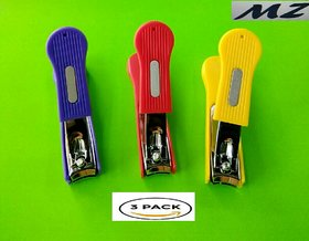 MZ (Mahavir Zone)3Pc Assorted Colors Nail Clippers