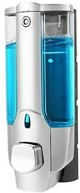 SKS - Clean Home Dispenser with Key 400 ml Gel, Lotion, Soap, Conditioner, Shampoo Dispenser (Steel)