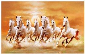 Seven Horses Poster  Vastu Seven Horses Posters  Running Horse Poster  Horse Wall Poster