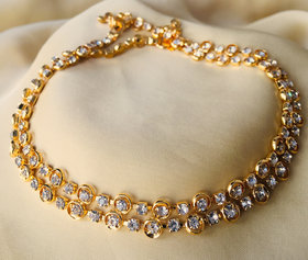 Simple Gold Plated Anklet For Women