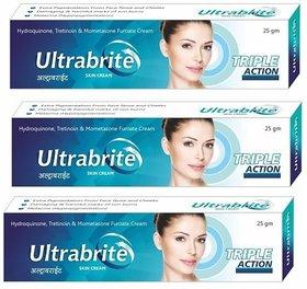 GS Ultrabrite Triple Action Skin Cream For Women- 25 g Each (Set Of 3 Pcs.)