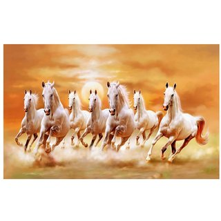 Seven Horses Poster - Vastu Seven Horses Posters - Running Horse Poster - Horse Wall Poster