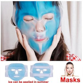 Wellbeing Within Gel Ice Pack Cooling Face Mask Pain Headache Relief Relaxing