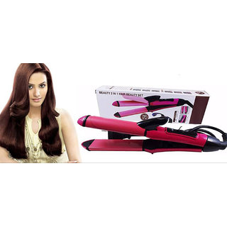 Nhc 2009 2 In 1 Beauty Hair Straightener Curler Hair Straightener 2 In 1 Straightener And Curler Nhc - 2009