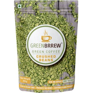 Greenbrrew Green Coffee Crushed Beans For Weight Loss - 200Gm (Easy To Use)