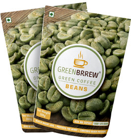 Greenbrrew Organic Green Coffee Beans For Weight Loss (Pack Of 2), 200Gm Each