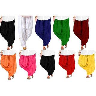 Women Cotton Free Size Patiala Salwar