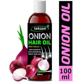Tekzon Natural Onion Oil With Pure Essential Oils Hair Growth Hair Oil (100 Ml)