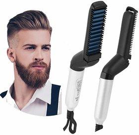Liboni Quick Hair Styler For Men Electric Beard Straightener Care Comb Multifunctional Curly Hair Straightening