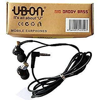 Ubon Ub1085   Big Daddy Bass Wired Powerful Audio Earphone With Mic 3.5 Mm Jack Bass Powerful