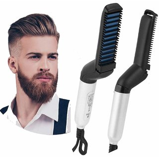 Liboni Quick Hair Styler For Men Electric Beard Straightener Care Comb Multifunctional Curly Hair Straightening