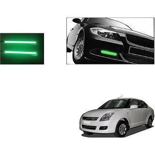 Autoladders Slim Daytime Led Drl Lights Green Set Of 2 For Maruti Dzire