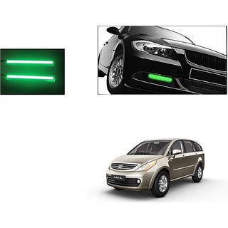 Autoladders Slim Daytime Led Drl Lights Green Set Of 2 For Tata Aria