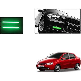 Autoladders Slim Daytime Led Drl Lights Green Set Of 2 For Tata Indigo