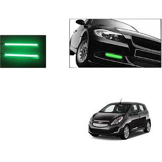 Autoladders Slim Daytime Led Drl Lights Green Set Of 2 For Chevrolet Spark