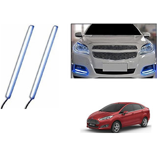 Autoladders Slim Daytime LED DRL Lights Ice Blue Set Of 2 For Ford Fiesta