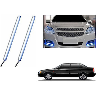 Autoladders Slim Daytime LED DRL Lights Ice Blue Set Of 2 For Hyundai Accent