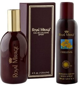Royal Mirage Unisex Perfume and Deodorant,120 and 200ml (Set Of 2)
