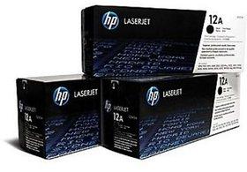 HP 12A Black Toner Cartridge Q2612A 3 pack