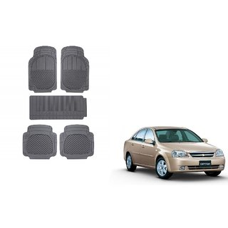 Autoladders Black Rubber Mat Set of 5 Pcs For  Chevrolet Optra