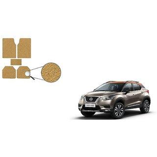 Autoladders Premium Quality Beige Noodle Foot/Floor Mat set of 5 For Nissan Kicks