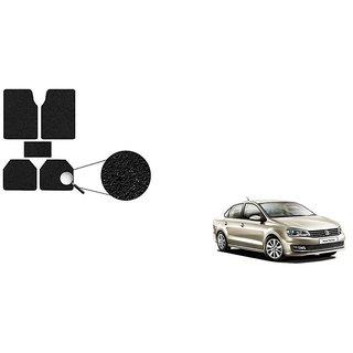 Autoladders Premium Quality Black Noodle Foot/Floor Mat set of 5 For Volkswagen Vento