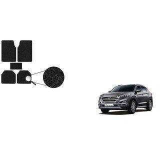 Autoladders Premium Quality Black Noodle Foot/Floor Mat set of 5 For Hyundai Tucson