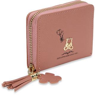 NFI essentials Fashion PU Leather Women's Mini Wallet Clutch Purse Card Holder