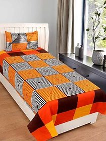 Shakrin 3D Printed Single Bedsheet With 1 Pillow Cover, Size  60 X 90 Inches (152 Cm X 228 Cm)