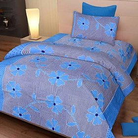 Shakrin 3D Printed Single Bedsheet With 1 Pillow Cover, Size : 60 X 90 Inches (152 Cm X 228 Cm)