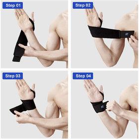 1 X Guard Brace Gym Protect Wrist Support Free Size - 10 G