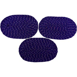 Cotton Door Mat Pack Of 3 (Mutlicolor, Medium)