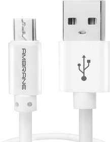 Ambrane Acm-1 2.4A Micro Usb Fast Charging Cable For Android Devices (1 Meter, 3.3 Feet)