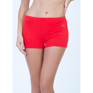 Envie Women's Solid Casual Cotton Red Shorts