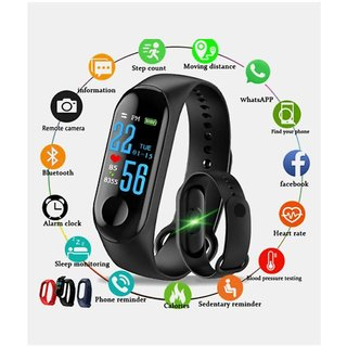 M3 Bluetooth Black Smart Band With Heart Rate Sensor Features By Admin