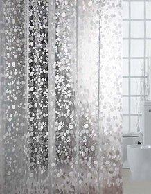 Casa-Nest 3D Stone Design Pvc .20 Mm Shower Curtain - 7Ft, Transparent