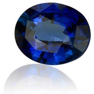 Ceylonmine Unheated & Untreated 7.25 Ratti Blue Sapphire Gemstone Original & Effective Stone Neelam For Unisex