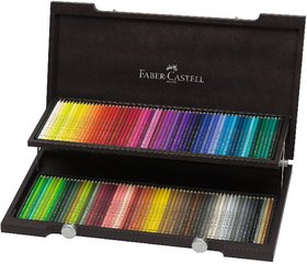 Faber Castell Polychromos Art Colour Pencil ( Wood Box Stand ) Set Of 120
