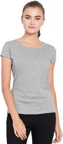 Haoser Women Round Neck Cotton Half Sleeves Slim Fit Tshirts For Womens